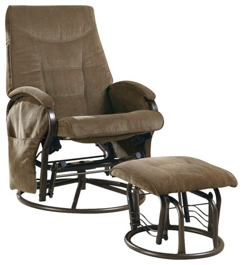 swivel rocker recliner with ottoman monarch specialties 7253 swivel rocker recliner with