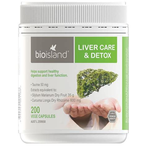 Detox With Care by Buy Bio Island Liver Care Detox 200 Vege Capsules