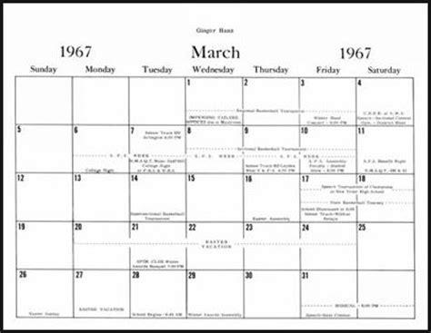 march 1967 calendar | new calendar template site