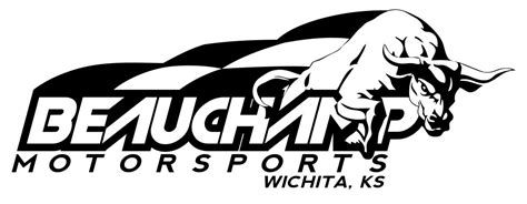 racing logo design for beauch motorsports wichita