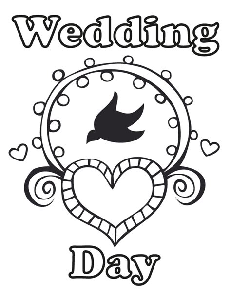 free coloring pages of wedding day