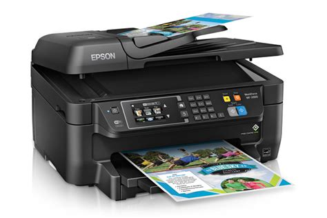 Printer Epson F4 Epson Workforce Wf 2660 All In One Printer Inkjet Printers For Work Epson Us