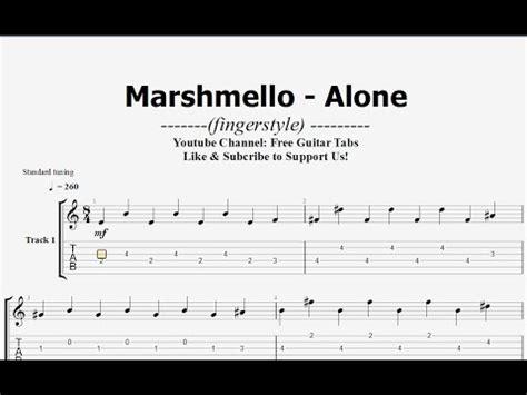 marshmello chord marshmello alone guitar tab fingerstyle hd 1080p