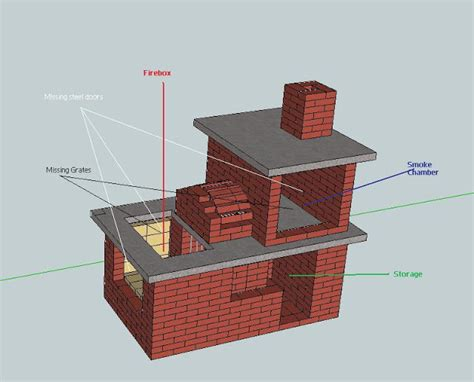 how to build a backyard smoker brick vector picture brick smoker plans