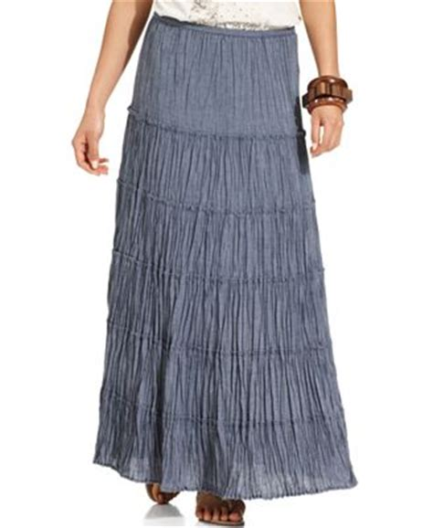 petite skirts shop petite maxi pencil styles style co petite skirt tiered chambray maxi skirts