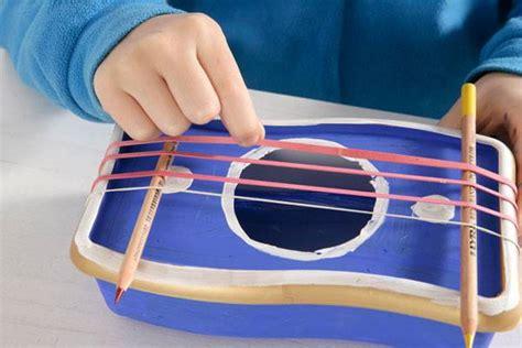 bastelvorlage selbst gebastelte musikinstrumente gummi