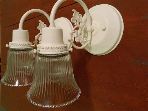 Shabby Chic Bathroom Lighting Upcycled Pair Of Shabby Chic Ornate Wall Sconces Bathroom Lig