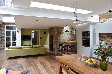 Small Contemporary House Plans by Semi Detached London Terrace House Gets A Bright Modern