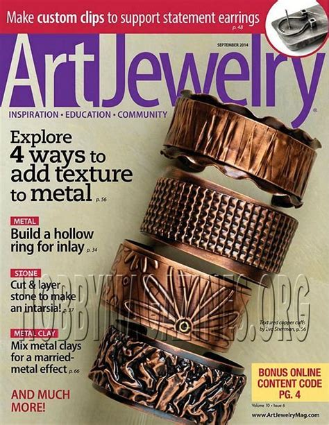 jewelry magazines free jewelry september 2014 187 hobby magazines free