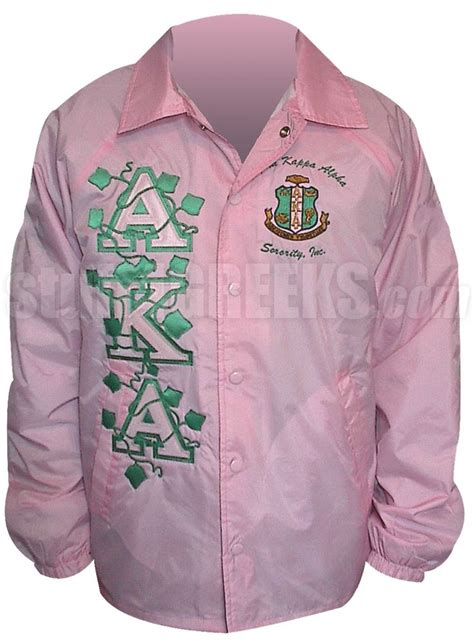 design fraternity jacket pink alpha kappa alpha ivy vines and crest line jacket