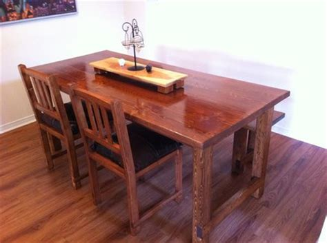 2x4 dining table bench and chairs by coddyincanada