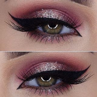 light pink glitter eyeshadow gorgeous makeup ideas with crystals