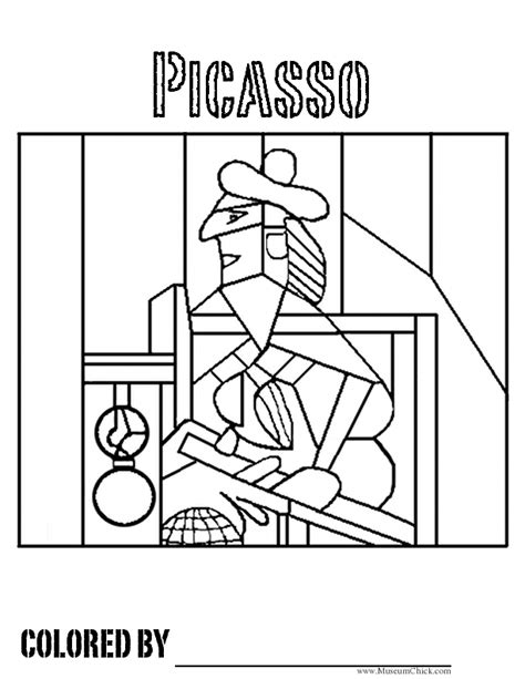 picasso cubism coloring in page coloring pages