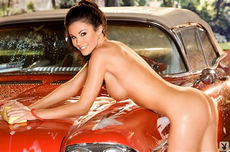 Wallpaper Jayde Nicole Smile Model Boobs Naked Nude Car Car Wash Playboy Wet Soapy