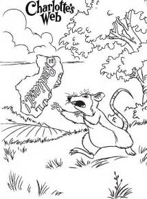 web coloring pages charlottes web coloring pages coloring home