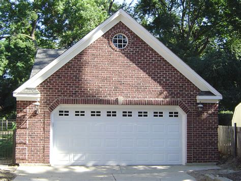 brick garage plans custom garage features blue sky builders