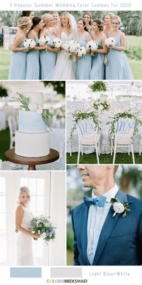 popular summer wedding color combos   light