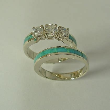 turquoise opal engagement rings wedding engagement rings southwest wedding rings