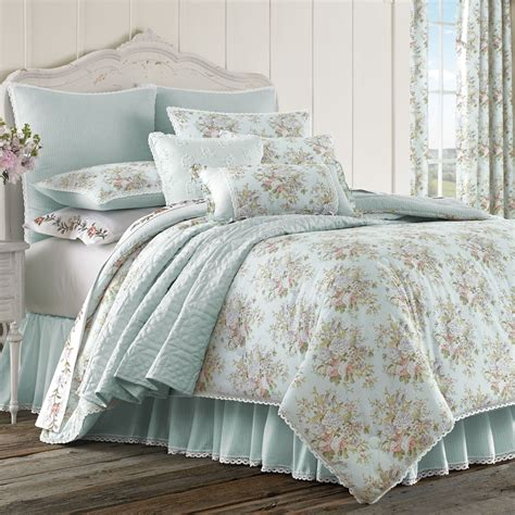 blue bedding haley pale blue comforter bedding by piper wright