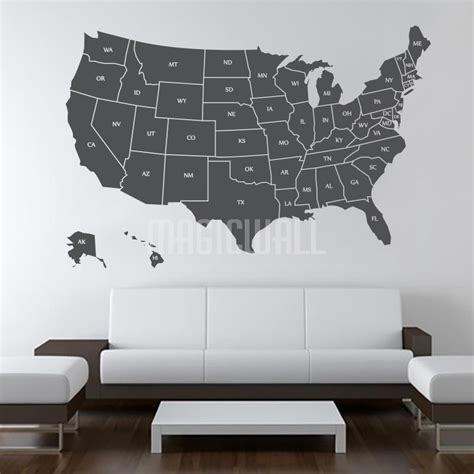 wall stickers usa wall decals usa united states map wall stickers
