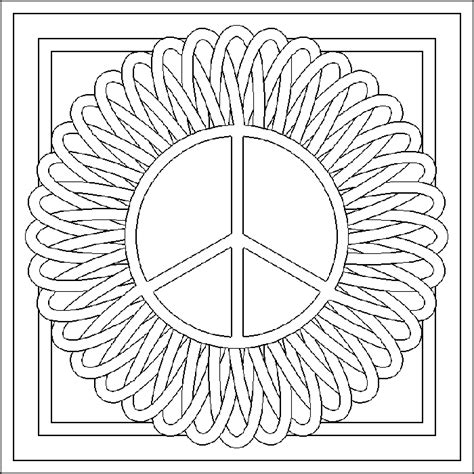 color for peace free coloring pages of mandala peace