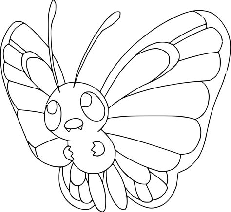 pokemon indigo coloring pages coloriage papilusion pokemon 224 imprimer