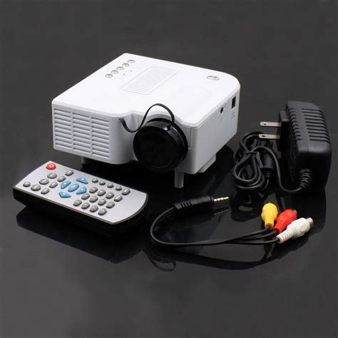 Proyektor Mini Uc 28 ruiq uc 28 24w portable mini lcd projector w 3 5mm sd card slot av vga usb white