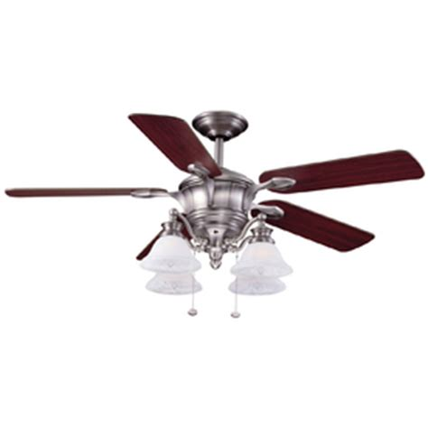harbor bellhaven ceiling fan shop harbor 52 quot bellhaven brushed nickel ceiling