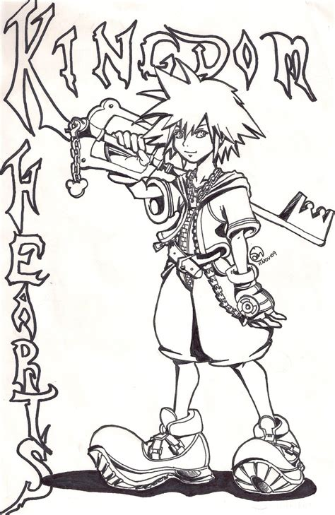 kingdom hearts coloring pages sora free printable kingdom hearts coloring pages for kids