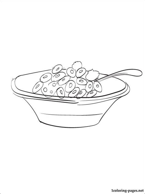 Breakfast Coloring Pages Breakfast Cereal Coloring Page Coloring Pages by Breakfast Coloring Pages