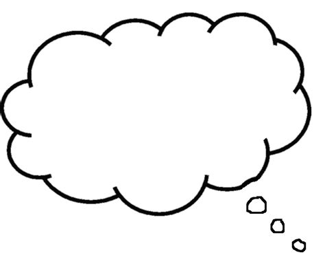 Thought Template free printable blank speech bubbles clipart best