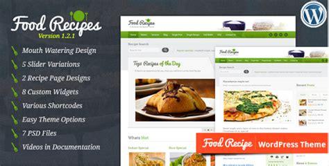 themes wordpress free food top 20 best food recipes wordpress themes