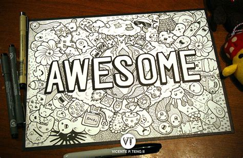 doodle awesome doodle awesome monsters by vicenteteng on deviantart