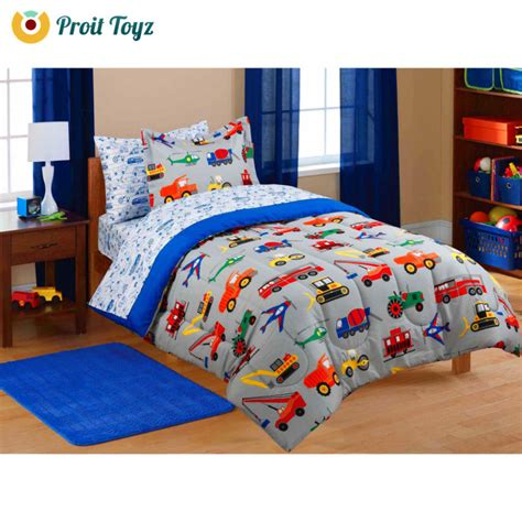 kids bedding set twin boys comforter cover sheet bed in