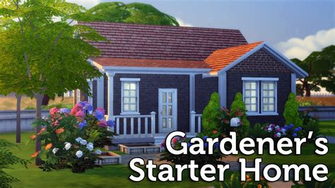 the sims 4 speed build gardener s starter home