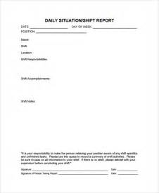shift report sheet template image gallery shift report