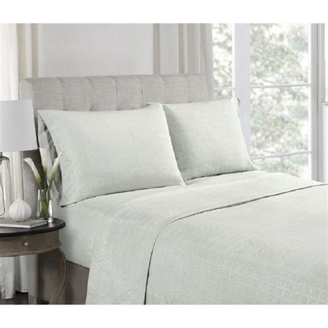 microfiber sheet sets patterned high point 3 piece grey embossed microfiber twin sheet set