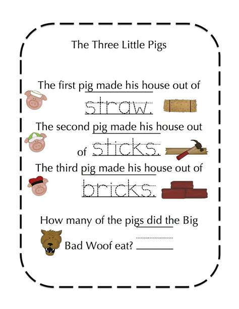 The Story Of An Hour Worksheet by The Three Pigs Worksheets Activity Shelter