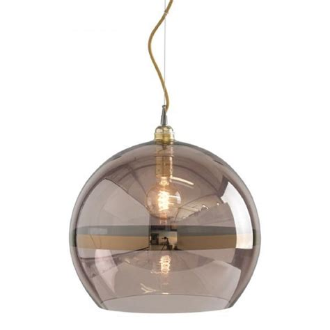 Contemporary Foyer Chandelier Copper Coloured Glass Globe Ceiling Pendant Light On Gold