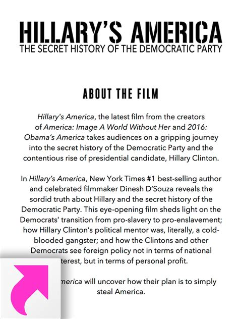 film it plot hillary s america the secret history of the democratic party