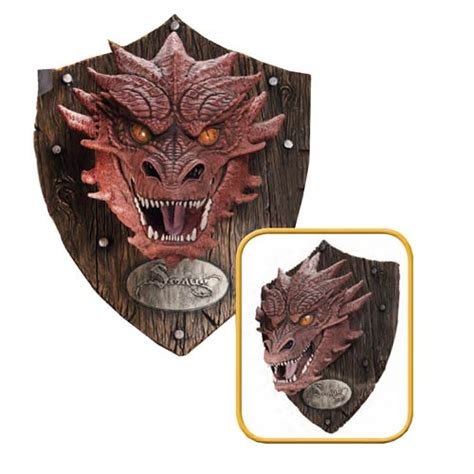 the hobbit smaug resin mounted trophy rubies