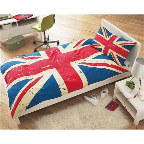 british flag bedding vintage union jack single duvet quilt cover set bedding