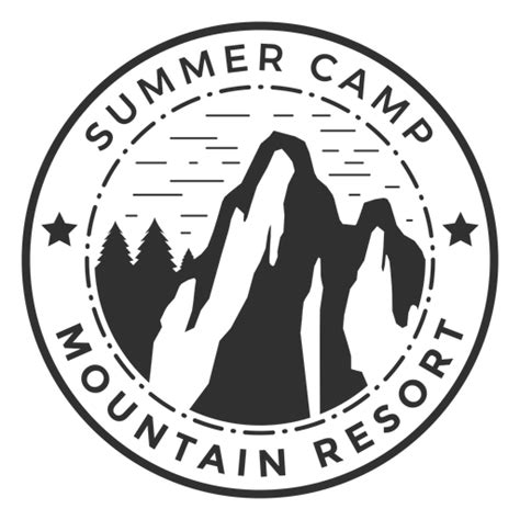 mountain summer camp logo transparent png svg vector