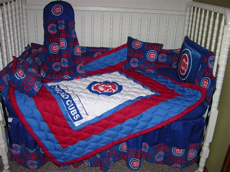 chicago cubs crib bedding new crib bedding m w chicago cubs fabric