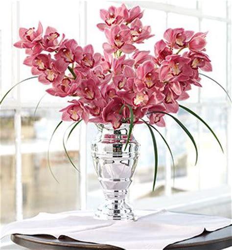 Vas Bunga Silver Vase Vase Trophy image of enchanting pink orchid arrangement with