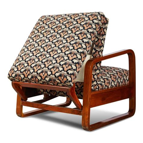 deco sleeper armchair with fabric attributed to