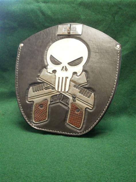 hand  leather gun holster   harley fatboy