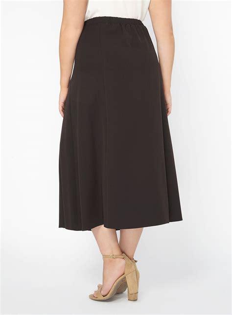 black midi skirt skirts clothing