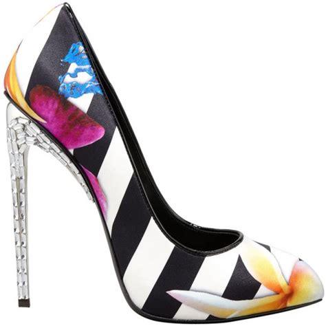 scarpe co dei fiori eccentriche decollet 232 giuseppe zanotti a righe e fiori
