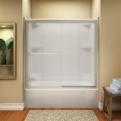 bathtub shower doors nib kohler finesse frameless sliding over tub shower door